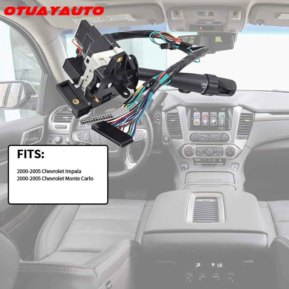 OTUAYAUTO Replace OEM 26073612 2000-2005 Monte Carlo Multi-Function Combination fits 2000-2005 Chevrolet Impala Turn Signal Switch