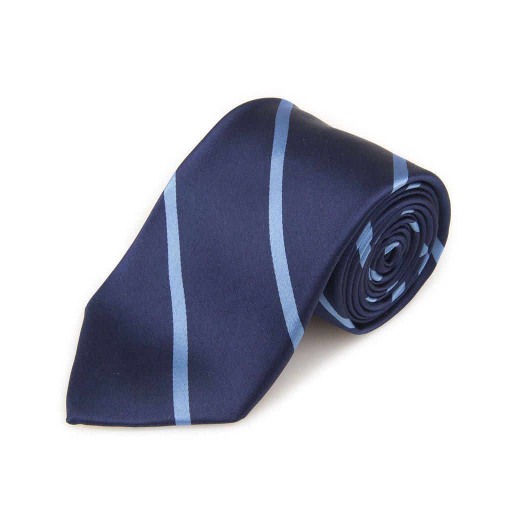 Robert Talbott Best Of Class Navy And Light Blue Stripe Woven Silk Tie