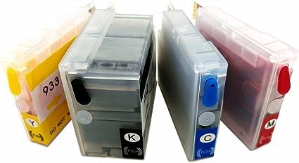 hemei @ 4Pcs cartucho de tinta recargable reemplazar para HP932 ...