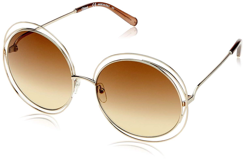 Amazon.com: anteojos de sol Chloe ce114s 773 Oro/tranp café ...