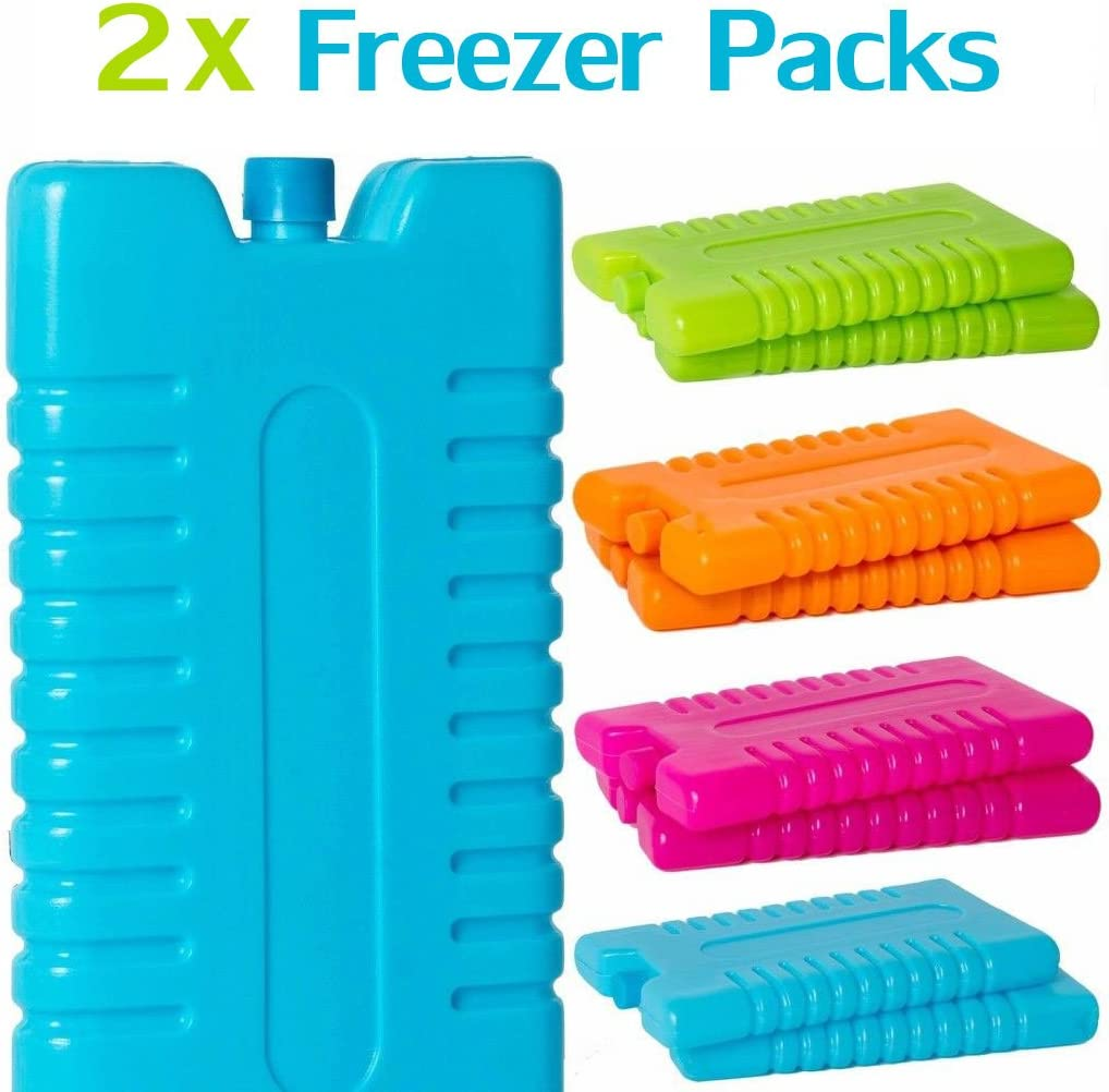 2 x Bloques hielo congelador - bolsa enfriar viaje caja pack enfriado - camping picnic - Plastico, Verde: Amazon.es: Deportes y aire libre