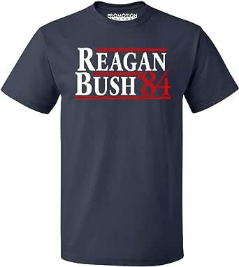 Promotion & Beyond Reagan Bush 84 Republican Presidential GOP Men's T-Shirt