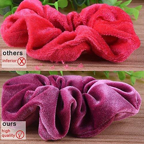 20... EAONE 20 Pack Velvet Hair Scrunchies Colorful Ties Scrunchy Bobble Bands