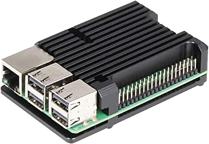 ZkeeShop Caja de Aluminio Compatible para Raspberry Pi 3 Model B,Pi 3 B+,Pi 2 Model B (No Incluye Raspberry Pi Board) (Without Fan): Amazon.es: Electrónica
