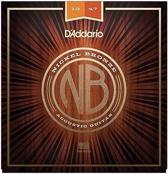 DAddario NB1047 - Juego de cuerdas acústicas, Extra Light 10-47