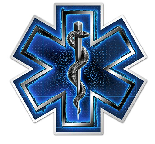 Collectible EMS/EMT Decals (4in,2pack), Share Your Appreciation and Support with Our Vinyl Silver Snake EMT On Call Stickers for Your Home, Car, Cases and More, Souvenir Gifts for EMS/EMT