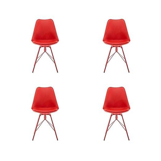 Green House Furniture Juego de 4 sillas de Comedor de Color ...