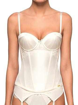 ULTIMO Bridal Satin Basque - Sujetador para mujer, color ivory, talla 80dd: Amazon.es: Ropa y accesorios