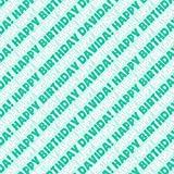 Davida Happy Birthday Premium Gift Wrap Wrapping Paper Roll - Teal
