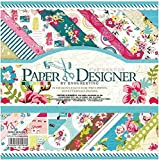 CraftDev 20 Unique Thick Beautiful Design Pattern Sweet Life Theme Printed Papers for Art and Craft, 8 x 8 Inch - Set of 40