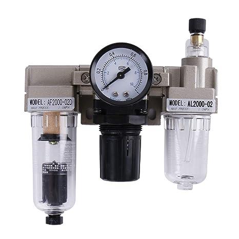 perfk Regulador de Compresor de Aerógrafo Filtro de Separador de Agua de Aceite Fluido de operación