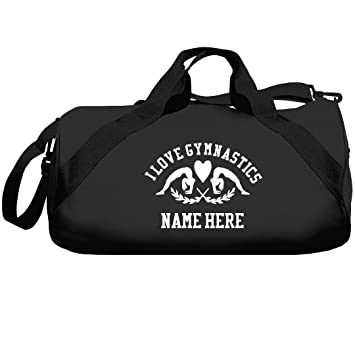 Amazon.com   I Love Gymnastics Custom Name Gift  Liberty Barrel Duffel Bag    Travel Duffels 9c714f1aac