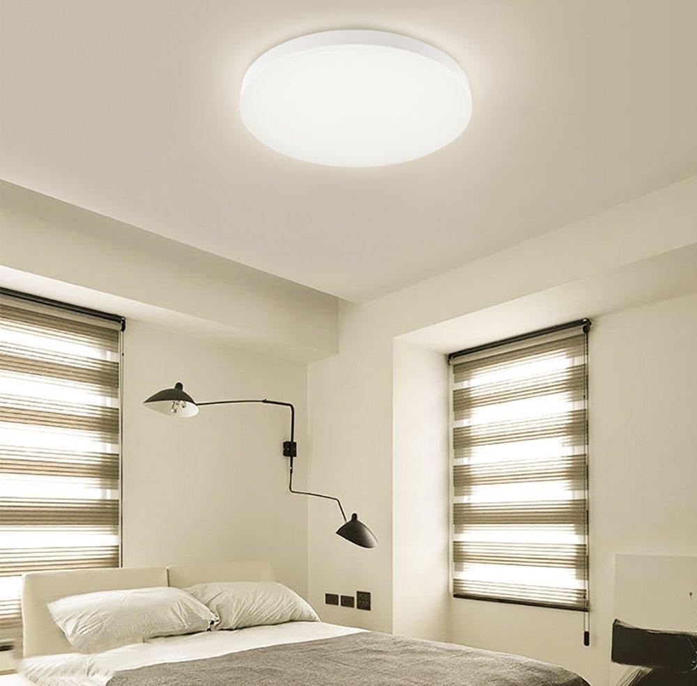 Deckenlampe 8w S&G LED Deckenleuchte rund 4000K 96 leds Bürolampe ...