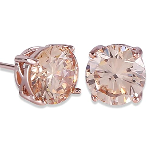 Amazon.com  GULICX Rose Gold Tone Yellow Crystal Royal Journey Jewelry  Eternity Stud Earring  Jewelry 55a43644a