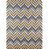 Momeni Rugs GEO00GEO-9YEL2030 Geo Collection, Hand Hooked Contemporary Area Rug, 2 x 3, Yellow