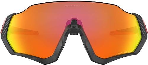 Oakley Mens Oo9401 Flight Jacket Shield Sunglasses Rectangular Sunglasses