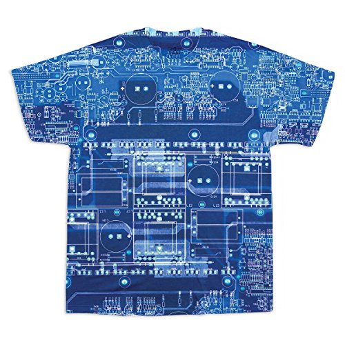 ComputerGear Motherboard All Over T-Shirt L Blue