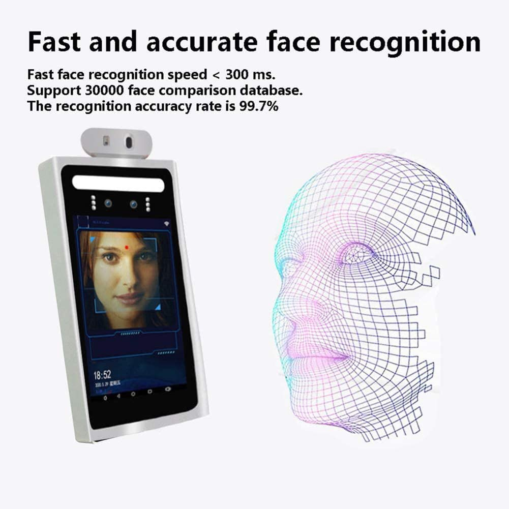 LIQIU High Technical Non-Contact Face Recognition Temperature Measurement System Infrared Thermograph Camera for Entrance and Exit of Office Building Mall Supermarket School Station