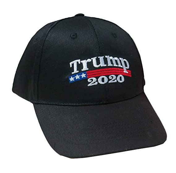 TrendyLuz Trump 2020 Keep America Great Hat President MAGA Baseball Cap Hat  (Black Trump 2020 8f22df1855bd