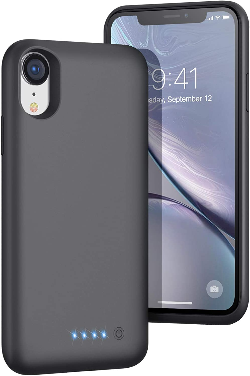 iPhone XR Battery Case, [2020 Newest Updated] 6800mAh Portable Charging Case Extended Battery Backup Pack for Apple iPhone XR Rechargeable Charger Case(6.1inch)