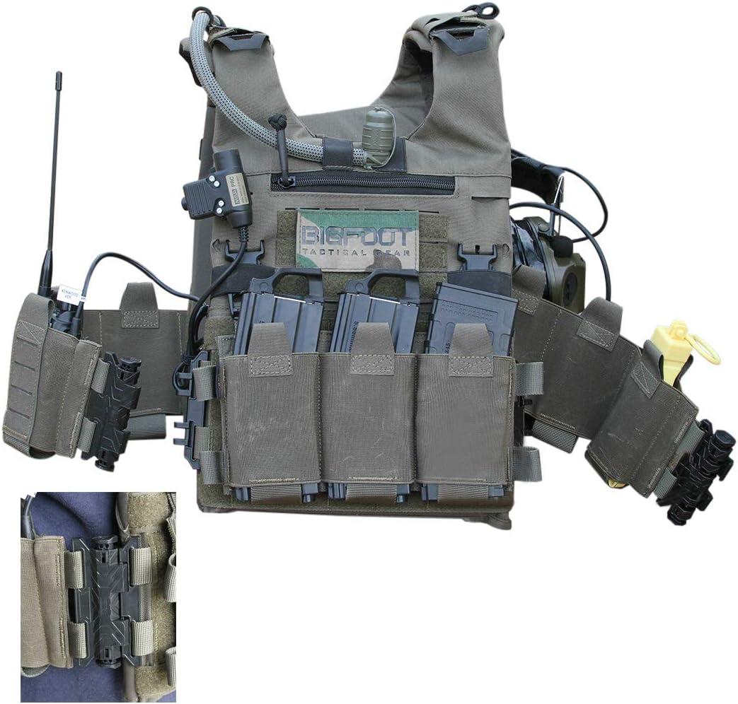 GODNECE Gilet Tactique Militaire Gilet Molle Tactique Lib/ération Rapide Poids l/éger pour Airsoft Paintball Chasse en Plein air Version de Corde /à Tirer sans Spile