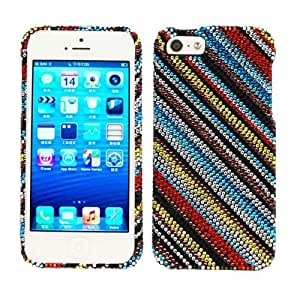 Cell Armor Snap-On Case for iPhone 4/4S - Retail Packaging - Full DiamondCrystal, Colorful Lines by Maris's Diary