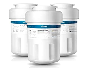 JETERY NSF/ANSI-42 Certified GE MWF Refrigerator Water Filter Replacement, Smartwater Fridge Cartridge Compatible for GE MWFA, MWFP, GWF, GWFA, GWF06, 46-9991, Pack of 3