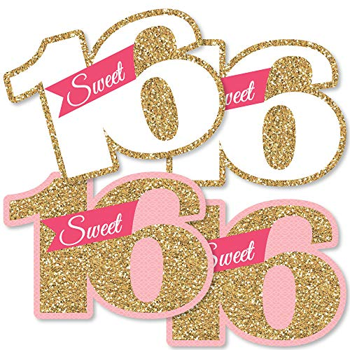 Sweet 16 - Decorations DIY 16th Birthday Party Essentials - Set of 20 -