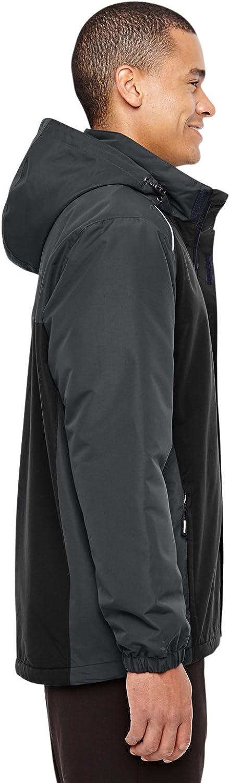 88225 -BLCK// CARBON 2XL Ash City Mens Inspire Colorblock All-Season Jacket