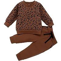 0-4 Años,SO-buts Recién Nacido Bebés Niñas Niños Camiseta Con Estampado De Leopardo Sudadera Abrigo Tops Pantalones…