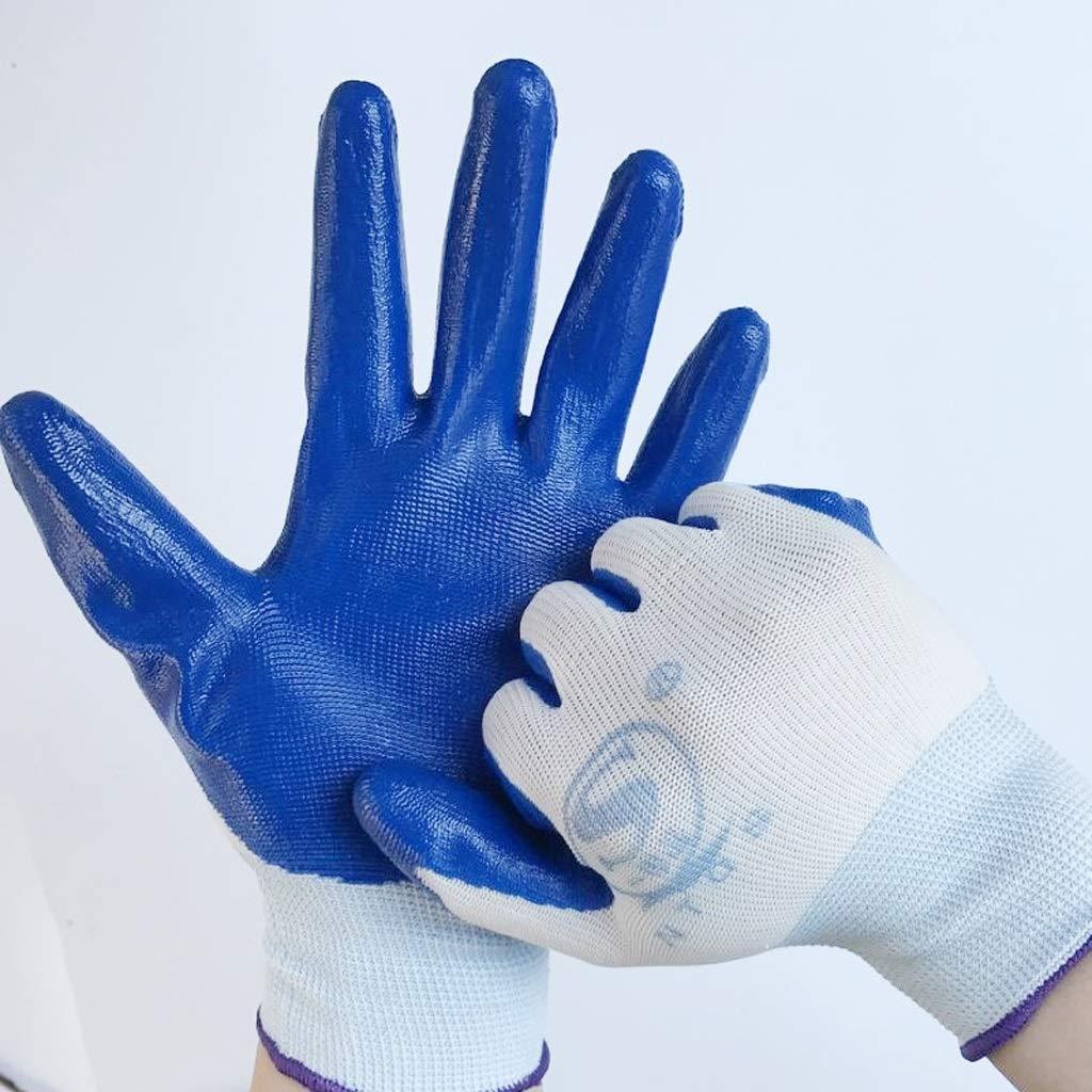 sconto di vendita JXXDDQ 12 Paia di Guanti da Lavoro in Nylon Nylon Nylon Rivestito di Nitrile  Miglior prezzo