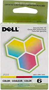 Dell Computer JF333 6 Standard Capacity Ink Cartridge for 725/810 - Prints Both Black and Color