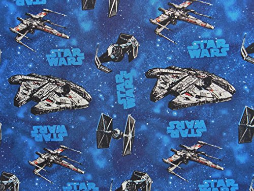 Officially Licensed Star Wars Vehicles Cotton Fabric Great for Quilting, Sewing, Craft Projects, Throw Pillows, Quilts /& More 1//2 Yard X 44 1//2 Yard