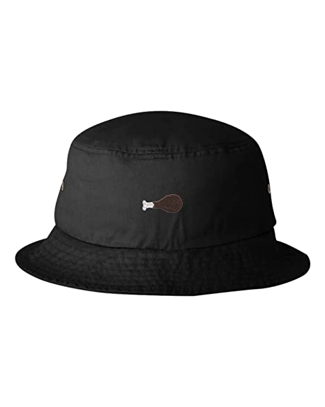 17bd449a581a4 Go All Out One Size Black Adult Chicken Wing Embroidered Bucket Cap Dad Hat