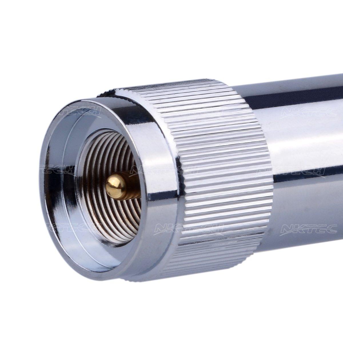 NKTECH NK-9900 Quad Band Stainless Antena 10M 6M 2M 70CM 60//150W For FT-8900R TYT TH-9800 WOUXUN KG-UV950P KG-UV920R QYT KT-7900D KT-UV980 PLUS M/óvil Transceptor 29.6//50.5//144//435MHz