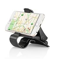 siroflo Universale Regolabile Antisicvolo Supporto Porta Telefono Cellulare per Auto Macchina con Clip sul Cruscotto Accesori Auto Interno Appoggia per GPS iPhone Samsung Smartphone