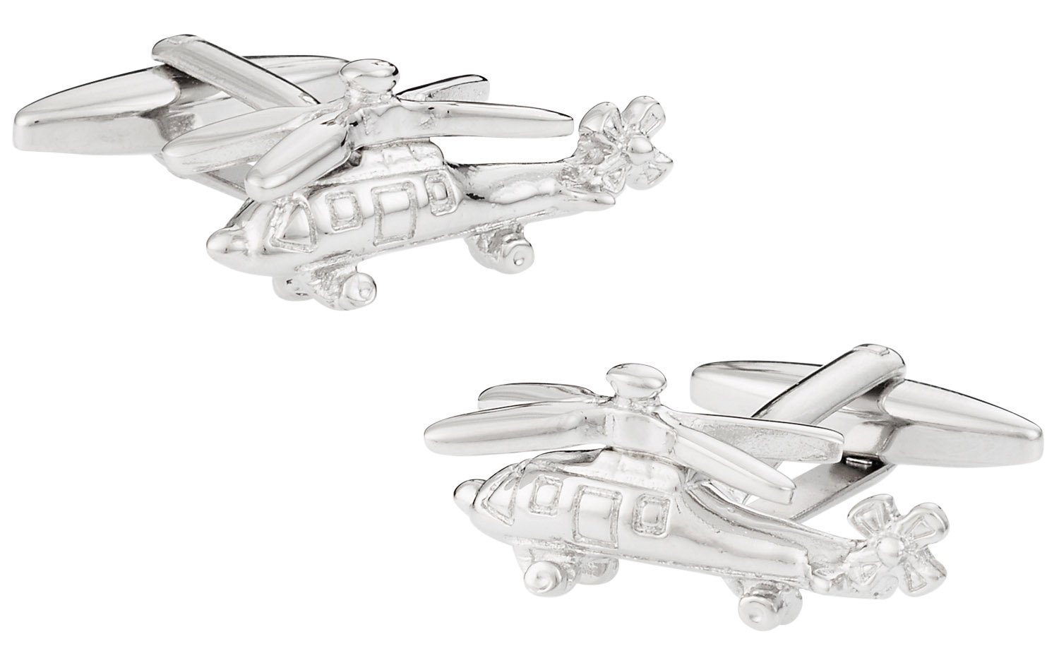 Cuff-Daddy Helicopter Cufflinks with Presentation Box