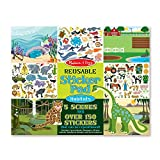 Melissa & Doug Habitats Reusable Sticker Pad, Extra Large Sticker Activity Pad, Removable Backgrounds, 150 Stickers, 14.05'' H x 11.05'' W x 0.2'' L
