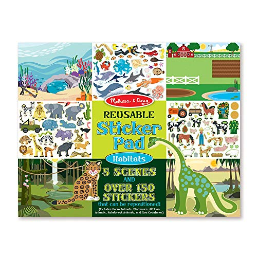 Set Decal Planes Great (Melissa & Doug Habitats Reusable Sticker Pad (Extra Large Sticker Activity Pad, Removable Backgrounds, 150 Stickers))