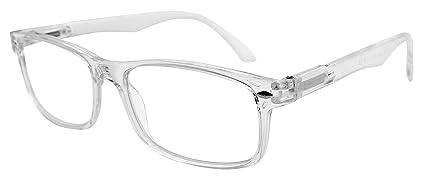 7efc5e457e TBOC Gafas de Lectura Presbicia Vista Cansada - Graduadas +1.50 Dioptrías  Montura de Pasta Transparente