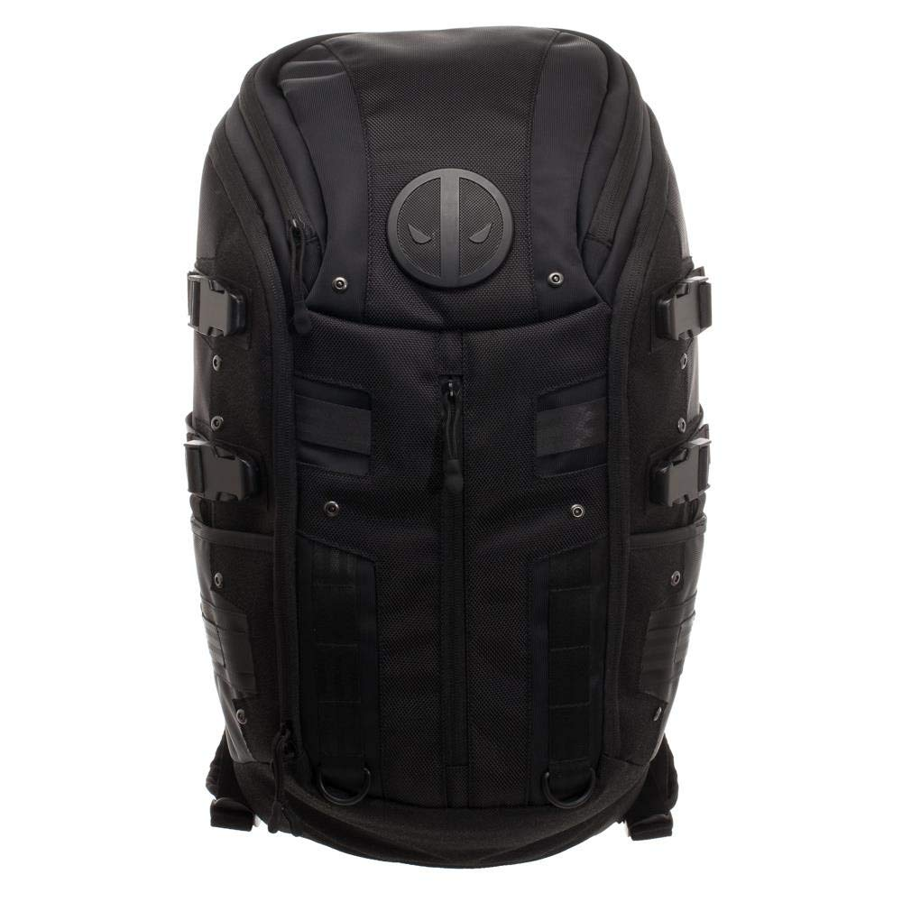 Marvel Comics Deadpool Black Tactical Backpack BioWorld BP6QWVMVU