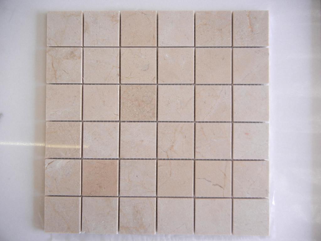 Crema Marfil mosaic polished 2x2
