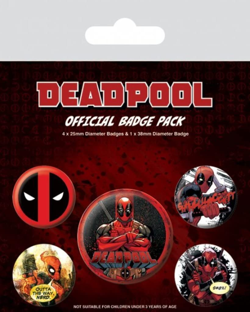 Pack Ensemble de 5 Broches Deadpool