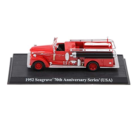 1:64 Die-cast Fire Engine 1952 Seagrave USA Fire Truck Car Vehicle Model Toy