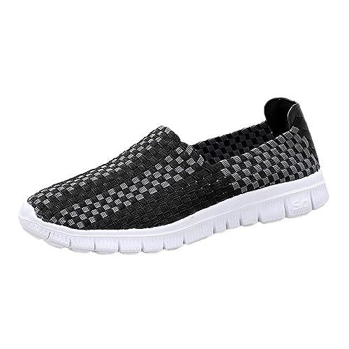 Zapatillas de Deporte para Mujer Otoño 2018 PAOLIAN Zapatos de Plano Dama Negras Casual Deportivo Cómodo Moda Señora Senderismo Aire Libre y Deporte Calzado ...