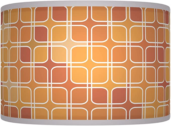 20 cm (20,3 cm) rustico arancione retro Handmade geometrico