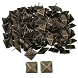 BQLZR 30x30mm Bronze Antique Square Upholstery Nails Tack Pyramid Studs Vintage Furniture Pack of 100