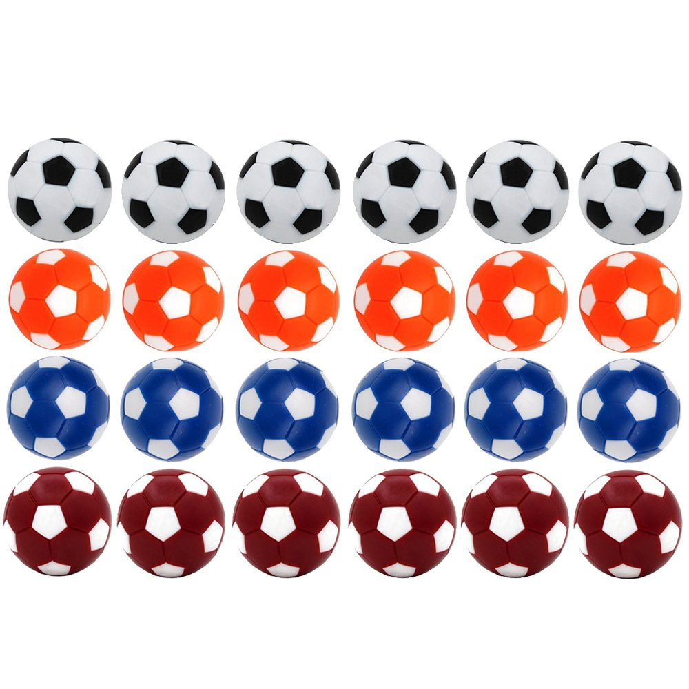 Croing 24 pcs Foosball Balls ,Table Soccer Replacement Balls, Colorful 36mm Official Tabletop Game Balls (24 PCS) by Croing