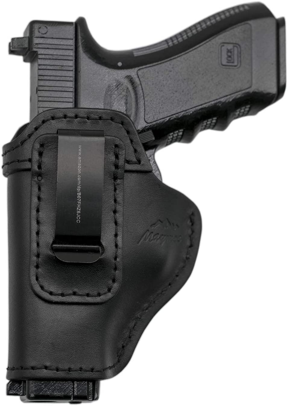 MAYMOC The Defender Funda de Cuero IWB para S&W M&P Shield - Glock 17-19 19 22 23 32 33 / Springfield XD & XDS/Plus Todas Las Pistolas de tamaño Similar