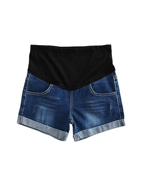 Zhhlaixing Pantalones Cortos Vaqueros - Suave Finos No Aprieta Puede Ajustar Secar Rápidamente Talla Extra Activo Pantalones para Embarazadas: Amazon.es: ...